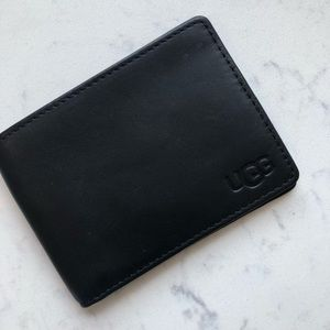 UGG black leather wallet